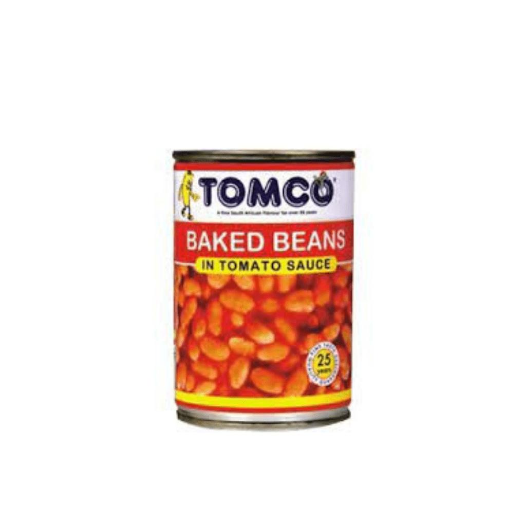 BAKED BEANS TOMCO       1x410g