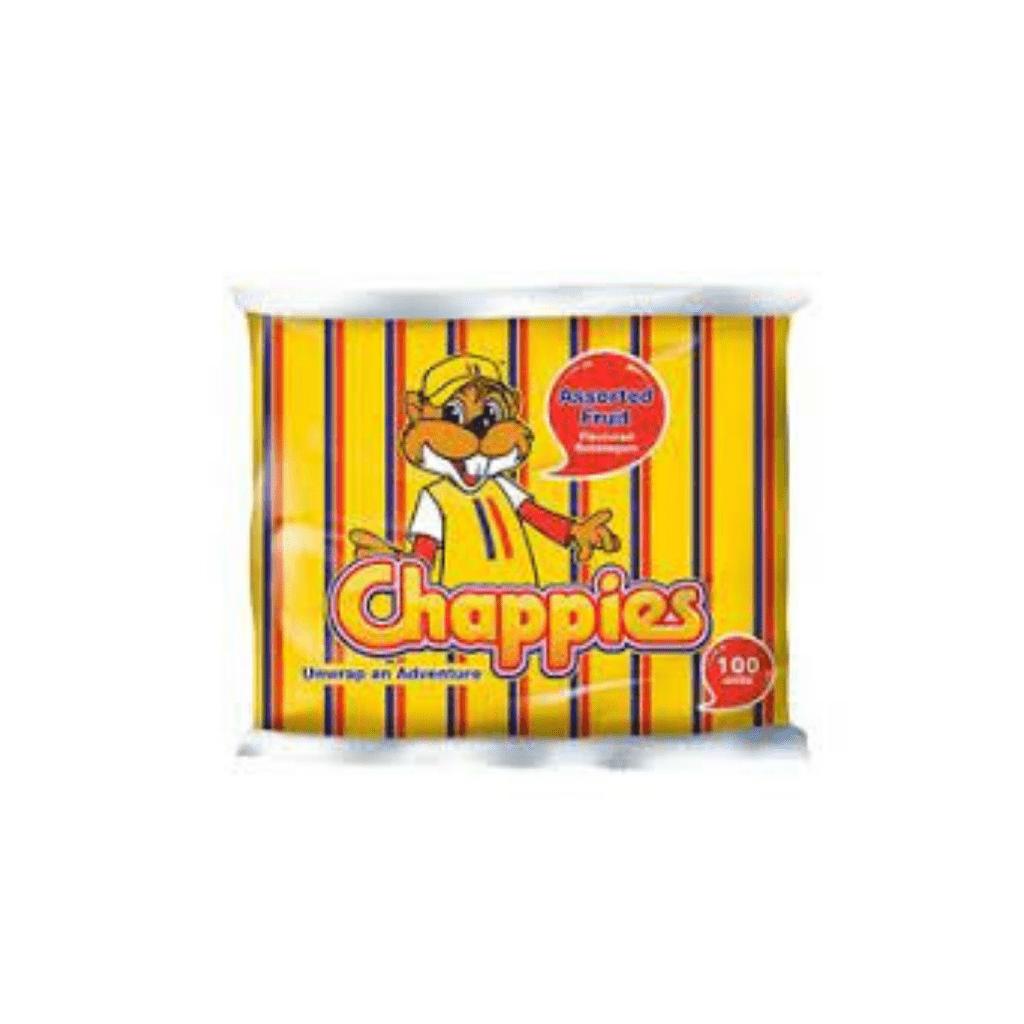 CHAPPIES B/GUM SPEARMINT 100S